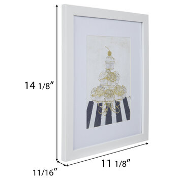 Glam Cupcake Tower Framed Wall Decor
