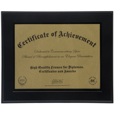 "Document Wood Wall Frame - 11"" x 8 1/2"""