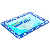 Menorah Glass Platter