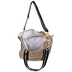 Copper Metallic Puff Tote Bag
