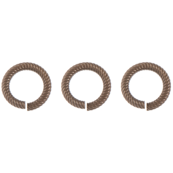 Round Etched Jump Rings - 9.5mm