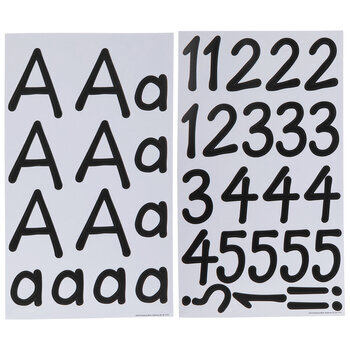 Black Zendition Alphabet Stickers