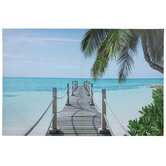 Tropical Pier Canvas Wall Decor