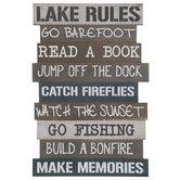 Lake Rules Wood Wall Decor