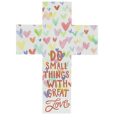 Do Small Things Wood Wall Cross