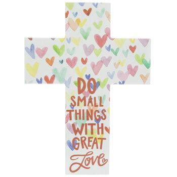 Do Small Things Wood Wall Cross