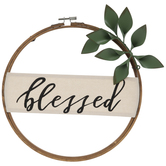 Blessed Embroidery Hoop Wall Decor