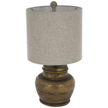 Distressed Gold Urn Lamp