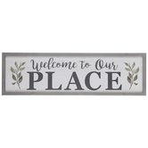Welcome To Our Place Wood Wall Decor