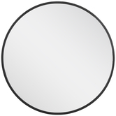 Black Round Metal Wall Mirror - Small