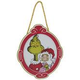 Grinch & Cindy Lou Who Frame Ornament