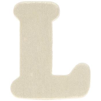 """Wood Letters L - 1 3/4"""""""
