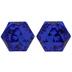 Majestic Blue Kaleidoscope Hexagon Swarovski Stones - 9.5mm x 11mm