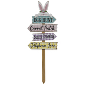 Easter Road Sign Wood Garden Stake
