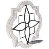 Quatrefoil Medallion Wood Wall Sconce