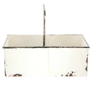 White Rustic Metal Caddy