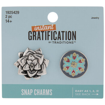 Floral Snap Charms