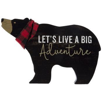 A Big Adventure Bear Wood Decor