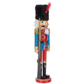 Glitter Wood Soldier Nutcracker With Rifle