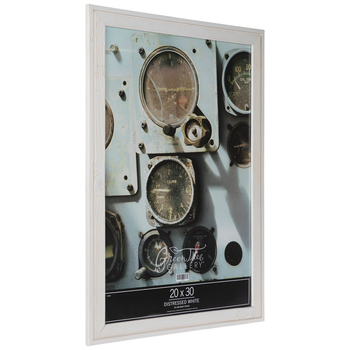 Distressed White Wood Wall Frame