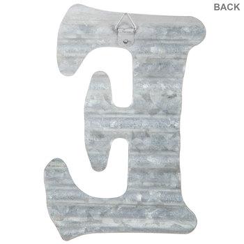 Corrugated Metal Letter Wall Decor - E
