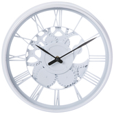 White Roman Numeral Wall Clock