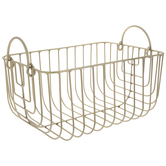 Gold Metal Wire Container