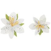 White Iris Flower Embellishments
