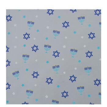 Silver Foil Hanukkah Gift Wrap
