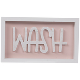Pink & White Wash Wood Decor