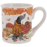 Dog In Yellow Sweater Autumn Mug