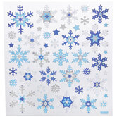 Blue & Silver Snowflakes Foil Stickers