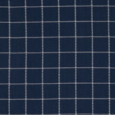 Blue & Ivory Checkered Duck Cloth Fabric