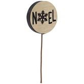 Round Black Glitter Noel Pick
