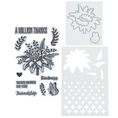 Million Thanks Stencils, Dies & Clear Stamps