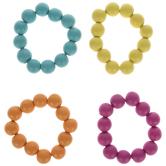 Multi-Color Beaded Wood Napkin Rings