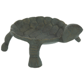 Antique Green Metal Turtle Jewelry Dish