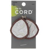 Leather & Wood Leaves Pendants