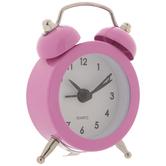 Pink Mini Metal Alarm Clock