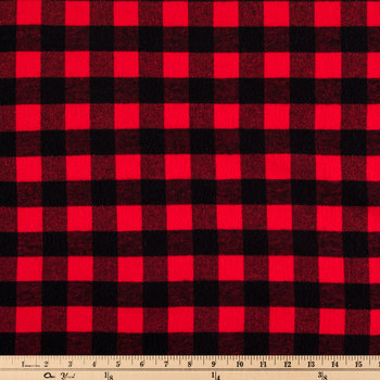 Red Buffalo Check Flannel Fabric