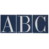 Uppercase Alphabet Adhesive Stencils