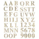 Gold Block Alphabet Stickers