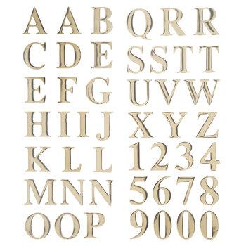 Gold Block Alphabet Stickers