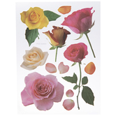 Pink & Yellow Rose Removable Stickers