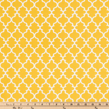Mustard & Eggshell Lattice Apparel Fabric