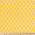 Mustard & Eggshell Lattice Apparel Fabric