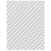 "Gray Snowflake Scrapbook Paper - 8 1/2"" x 11"""