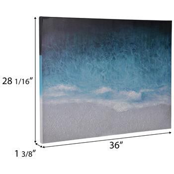 Textured Beach Canvas Wall Decor