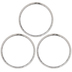 Sterling Silver Plated Hammered Hoops - 34mm
