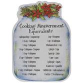 Cooking Measurement Equivalents Jar Magnet